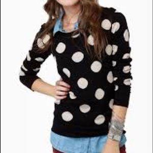 Forever 21 Polka Dot Sweater Large L