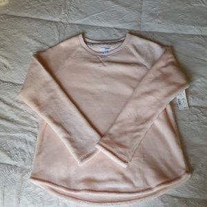 Brand New Faux Fur Light Pink Sweatshirt