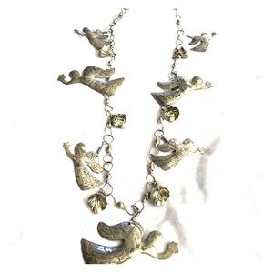 Thai Silver Angel Bells Necklace