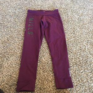 Reebok plum workout leggings