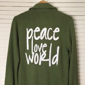 Peace Love  World Lily military jacket