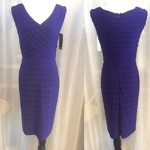 Purple Adrianna Papell Cocktail Dress