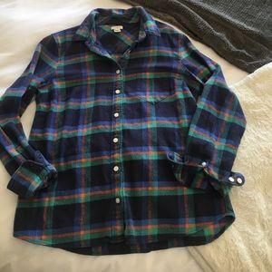 J. Crew flannel -- unique colors!