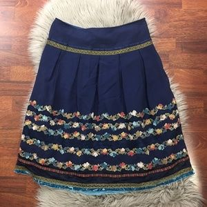 Cynthia Cynthia Steffe Floral Embroidered Skirt