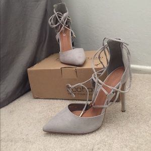 Grey Suede High Heels