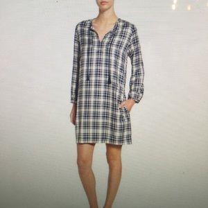 Madewell plaid shift dress
