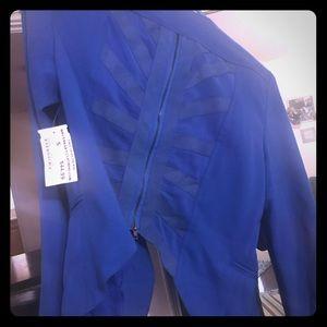BNWT Blazer zippered back Royal Blue