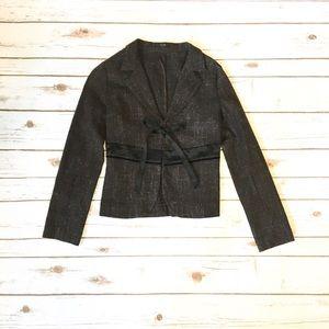 Zein brown and black blazer
