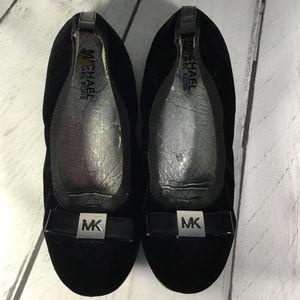 MK Michael Kors Velvet Black Ballet Flats 5M 5.5
