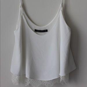White Zara Lace Tank Top