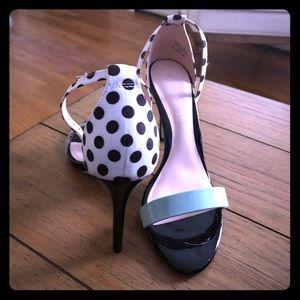 Also Polka Dot Tiffany Blue stiletto pumps
