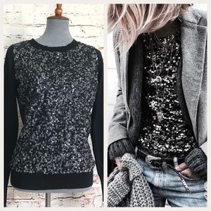 Express Sequins Blank Sweater
