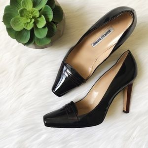 Manolo Blahnik Patent Leather Square Front Heels