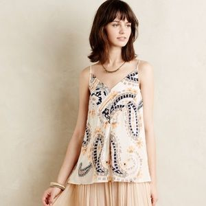 Anthropologie Silk Tank Top