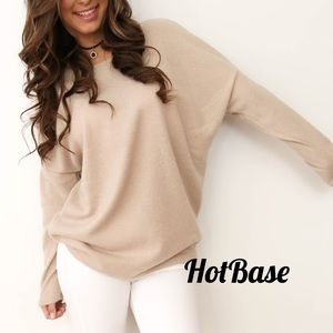 Tops - Camel Lightweight Sweater