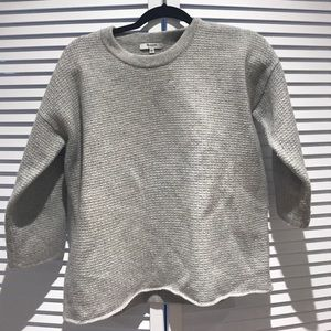 Made well ladies grey waffle sweater