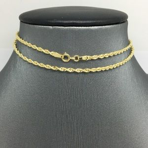 Jewelry - 14K Yellow Gold Rope Chain ~2.00mm 16 inches