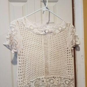 H&M Crochet Crop Top