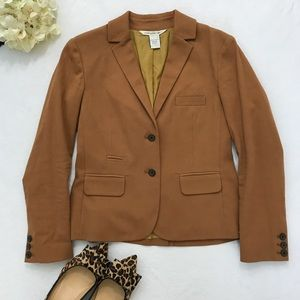 {Diane Von Furstenburg} Fitted Blazer Dark Camel