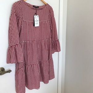 Zara Red Gingham Tunic