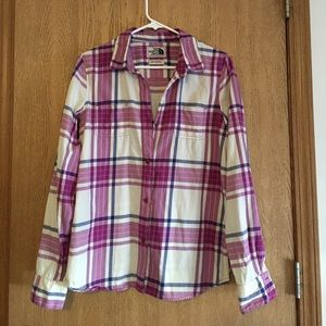 The North Face flannel button down
