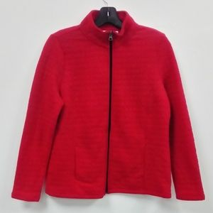 NWT Kim Rogers Red Quilted Jacket Sz Medium PETITE