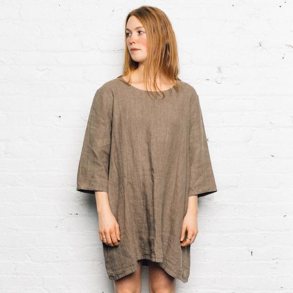 505e10e8ed5 bryn WALKER Dresses   Skirts - Bryn WALKER Brown Linen Tunic Dress