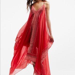 NWOT Free People Merida Dress Red