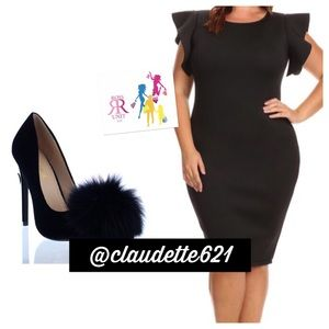 Dresses & Skirts - Flutter Sleeve BodyCon Dress
