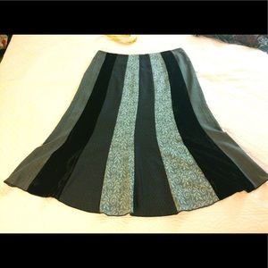 This is a very beautiful multi pattern skirt/.