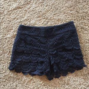 LOFT Cute black lace shorts