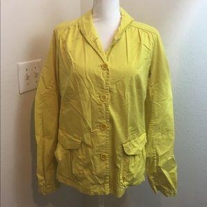 J Crew Sunshine Yellow Button Down Jacket
