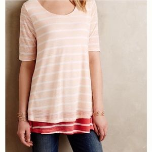 Anthropologie 💜 Puella Stripe Mix Tunic