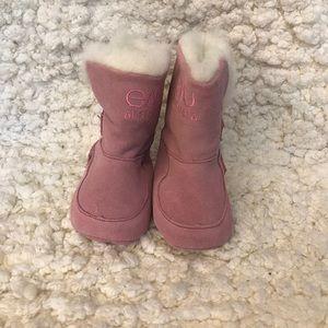 Infant EMU Suede booties with Merino wool