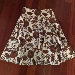 Gap Linen Full circle Pleated skirt. Size 6