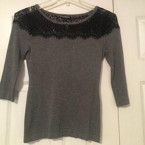 Express women's 3/4 length sleeve sweater