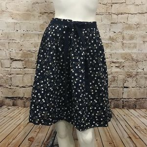 GAP Navy Blue Polka Dot Pleated Mini Skirt 8