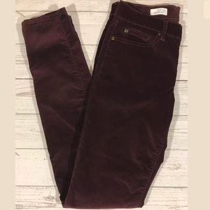 Gap Legging Jean Size 27/4T Deep Burgundy