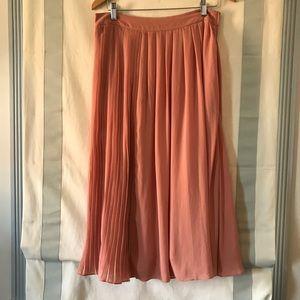 H&M Blush Midi Pleated Skirt. Size 10. Like New.