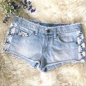 CARMAR Crochet Shorts
