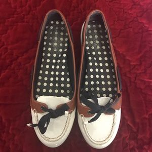 Sperry White Loafers