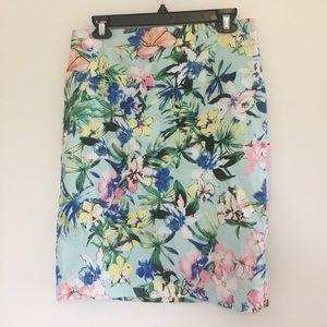 Carmen Floral Pencil Skirt