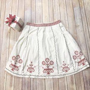 Anthropologie lithe skirt 6