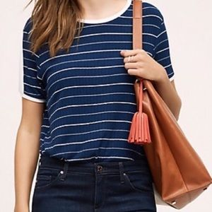 Anthropologie Morgan Stripe Tee