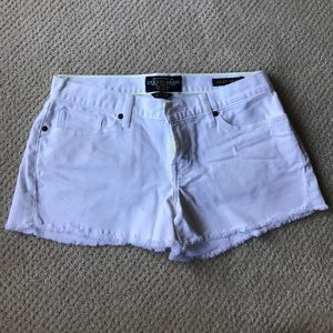 Lucky Brand white denim Riley short.