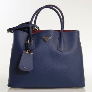 Saffiano Cuir Small Tote with Leather Strap Bag