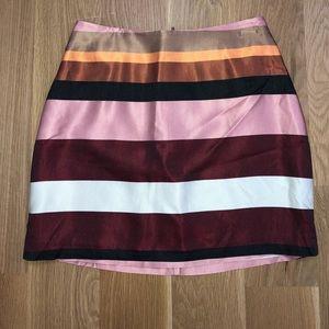 Striped H&M Mini Skirt