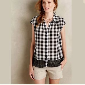 Anthropologie - Holding Horses Nellie Gingham Top