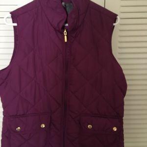 Purple puff vest