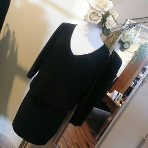 WHBM little black dress with sleeves
